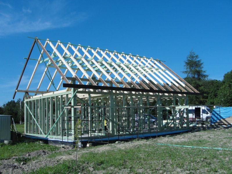 Budowa domku Pogwizdów dzień trzeci  21.06.2017