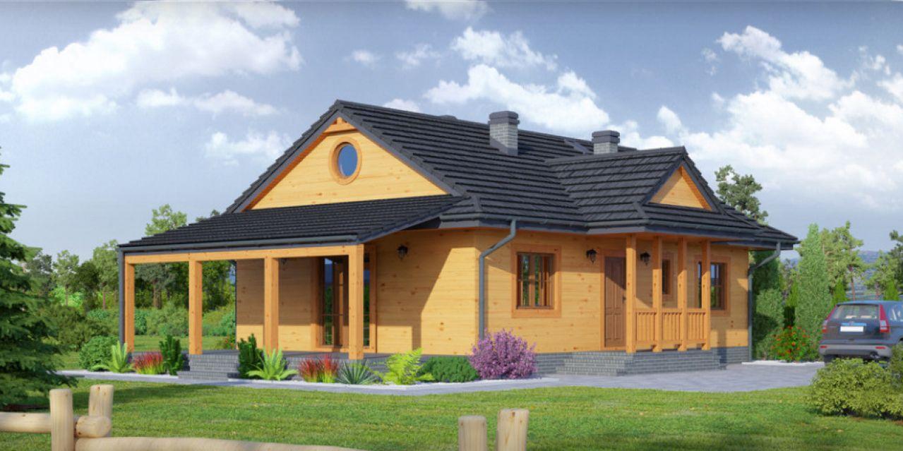 mieszkalne domy drewniane - Domy z drewna w elewacji drewnianej
