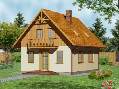 "DM-10 121 m2 Projekt ""Domek Mały"""