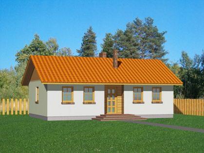 """DM-28 69,5 m2 Projekt """"Domek Miodowy"""""""