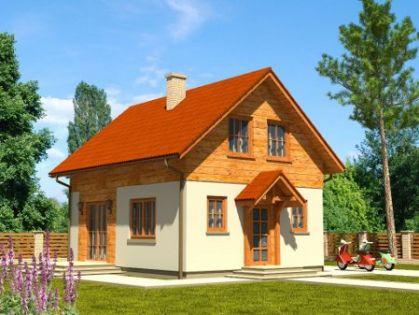 """DM-38 108 m2 Projekt """"Dom Jesienny"""""""