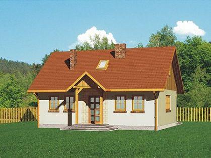 "DM-41 136,46 m2 Projekt ""Domek Lipowy"""