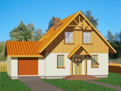 """DM-68 166 m2 Projekt """"Domek Południowy+G"""""""