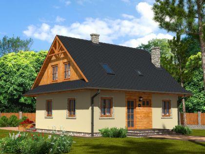 "DM-72 164 m2 Projekt ""Domek Ciepły BD"""