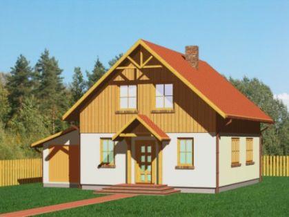 "DM-67 140 m2 Projekt ""Domek Klonowy+G"""