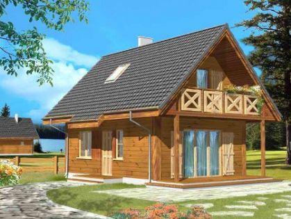 "DM-69 76 m2 Projekt ""Sosenka Drewniana"""