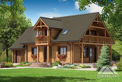 """DM-42 166,8 m2 Projekt """"milicz drewniany"""""""